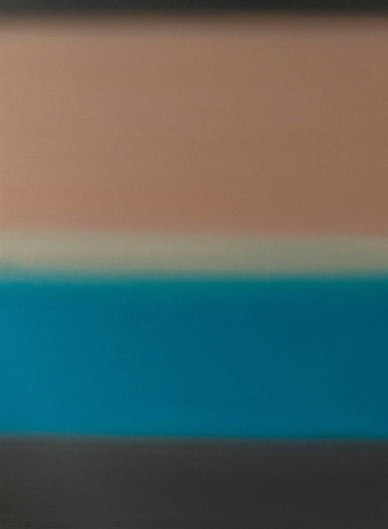 Grzegorz Worpus-Budziejewski obrazy z gradientem minimalistyczne wnętrza